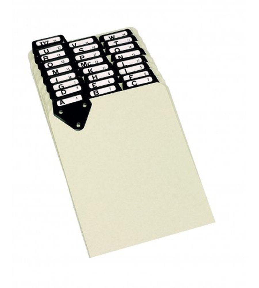 """Martin Yale Master 14254 Posting Tray Index Sets, Takes 6"""" x 9"""" Documents, 25 Pressboard Dividers, each Set includes A-Z Categories and Blank Inserts, Durable Tabs made of Metal for a Lifetime of Use"""