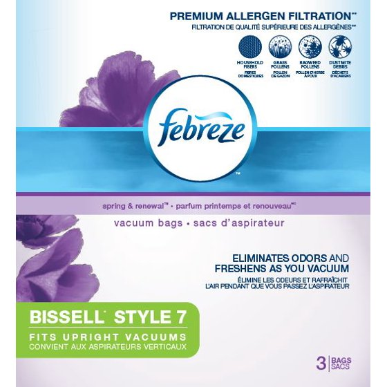 Febreze bissell style 7 vacuum bags 3 pack 17f9 walmart fandeluxe Choice Image