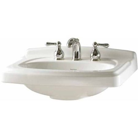 American Standard 0555.108.020 Portsmouth Pedestal Lavatory Top with Three Faucet Holes (8 Centers) without Pedestal Leg, Available in Various Colors