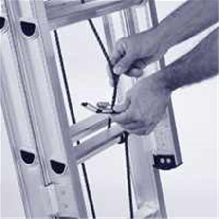 Werner AC30-2 Ladder Replacement Rope With Mounting Hardware, 40 Ft, (Werner Ac30 2 Extension Ladder Replacement Rope)