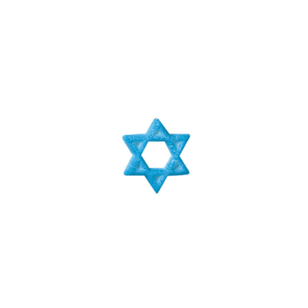 (Set of 12 Star Of David 1inch Edible Sugar Cake & Cupcake Decoration Toppers)