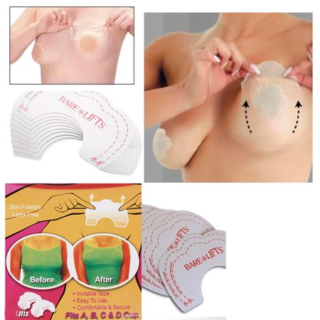ac50eca40 50 Pc Breast Lifts Adhesive Tape Instant Nipple Support Invisible Strapless  Bra