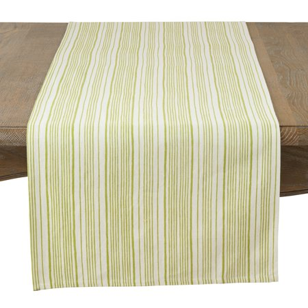 Modern Block Stripe Design Cotton Table Runner 16