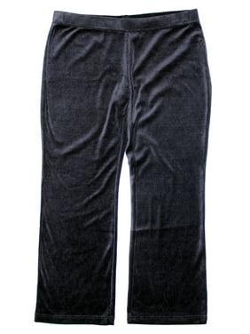 7a794884b8e3f Product Image Style   Co Women s Plus Size Velour Athletic Lounge Pants 3x  Deep Black