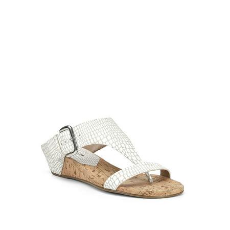 Doli Lizard-Print Leather Wedge Sandals Donald J Pliner Black Sandals