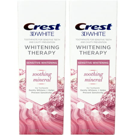 2 Pack Crest 3D White Whitening Therapy Sensitivity Care Toothpaste, 4.1 Oz (Crest 3d White Whitening Therapy Sensitivity Care Toothpaste)