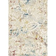 DynamicRugs PM244437109 4437 Prism Collection 2 x 3.5 in.Transitional Rectangle Rug, Ivory & Multi Color