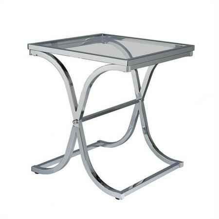 Southern Enterprises Vogue Chrome End Table