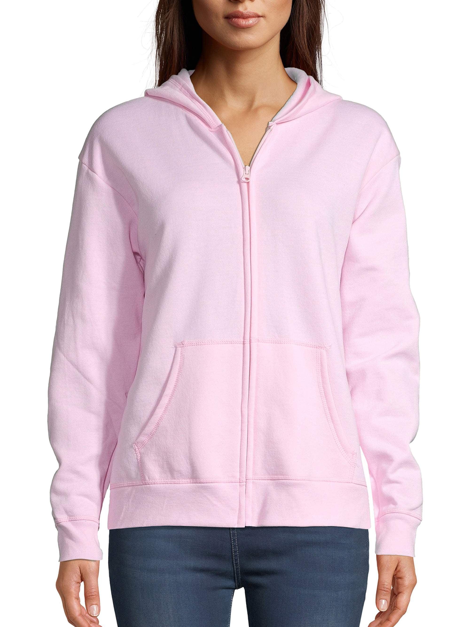 Hanes Womens Full-Zip Hooded Jacket Warm Up or Track Jacket