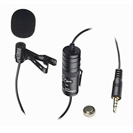 Canon EOS Rebel T6i Digital Camera External Microphone Vidpro XM-L Wired Lavalier microphone - 20' Audio Cable - Transducer type