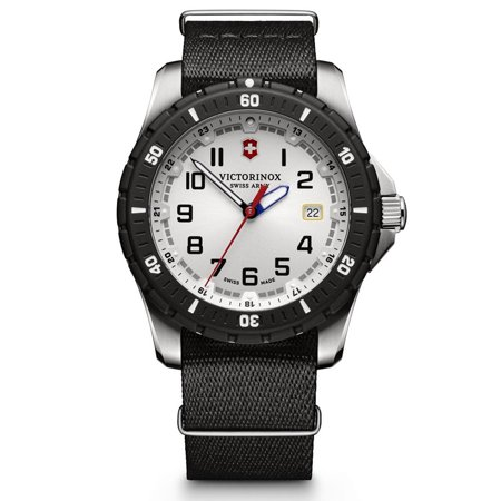 Swiss Army Maverick Sport White Dial Black NATO Nylon Men