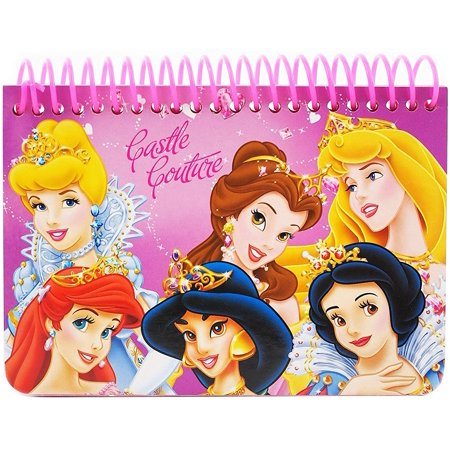 Disney Princess Licensed Autograph Book Small Note Pad Memo Kids -