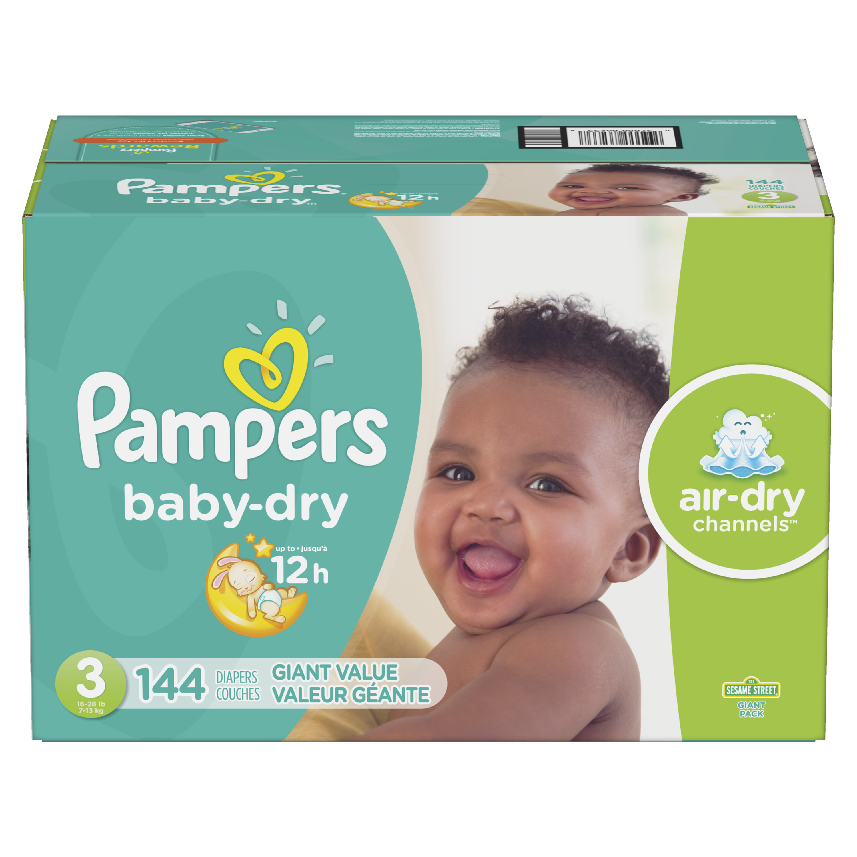 Pampers Baby Dry Diapers Size 3 144 Count Walmart
