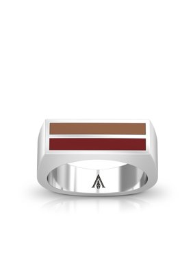 Assassin 's Creed Odyssey Enamel Ring In Light Brown And Dark Red