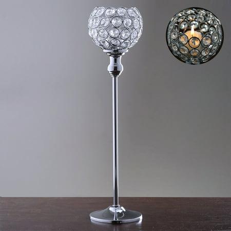 Efavormart 16 Tall Sleek Pillar Crystal Votive Tealight Candle Holder Wedding Centerpiece