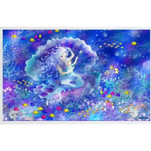 wallhogs mermaid wall mural walmart com