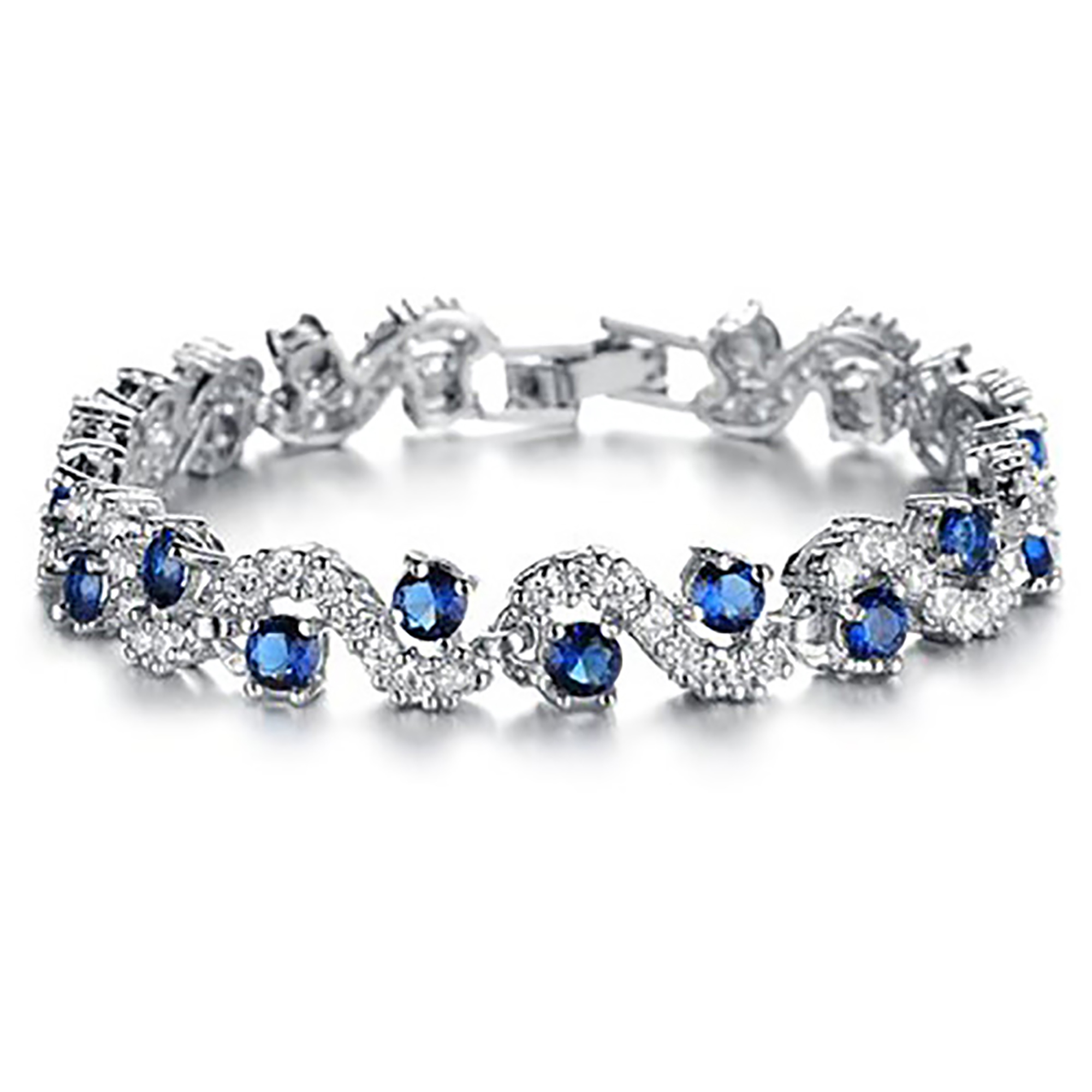 Fashionable Blue Sapphire Bracelet Jewelry in Two Lengths With Gift Box by Gifts Are Blue