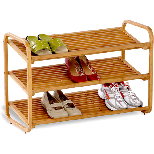 Honey Can Do 3-Tier Deluxe Bamboo Shoe Shelf