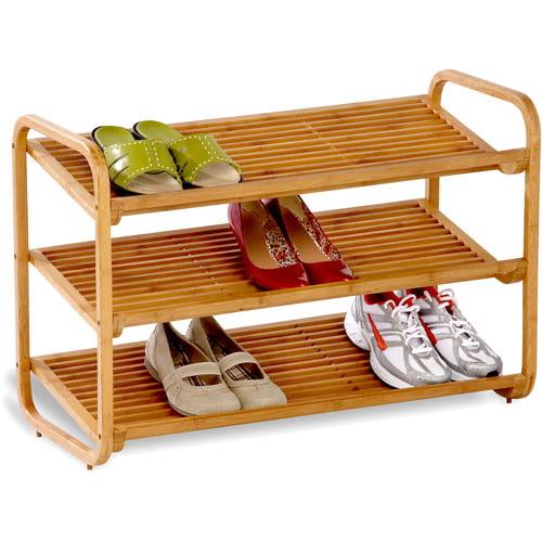 Honey Can Do 3-Tier Deluxe Bamboo Shoe Shelf