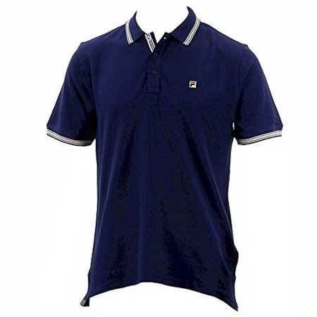 Fila Men's Matcho 3 Short Sleeve Peacoat Cotton Polo Shirt Sz: XL