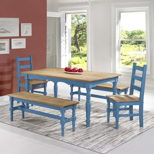 Gracie Oaks Pinard Solid Wood 5 Piece Dining Set