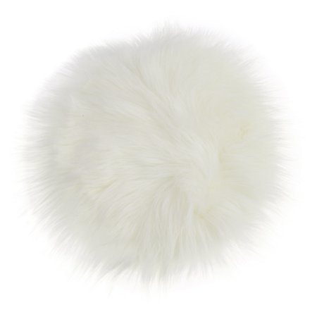 Fancyleo Wool Round Fashion Cushion Mat Imitation with Blend Cushion for Office Home Decoration Soft Seat Cushion Faux Fur Sheepskin Chair Cover Pad Plush Living and Bedroom Sofa