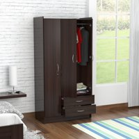 Product Image Inval Three Door Wardrobe Armoire Espresso Wengue Finish