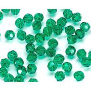 Faceted Beads, 6mm, Christmas Green, 480pc Pkg