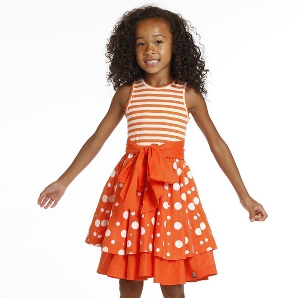 KidCuteTure Girls Tangerine Angelina Bow Designer 2 Pc Jacket Dress 7