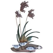 Sand Dune Sea Oats With Sandpipers Beach Metal Wall Decor