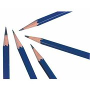 General's Hexagonal Non-Toxic Drawing Pencil, H Thin Tip, Blue, Pack of 12