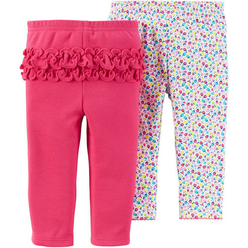 ** Child Of Mine by Carter's Newborn Baby Girl Pants, 2-Pack