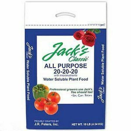 Jack's Classic 10lb Bag Professional All Purpose 20 20 20 Fertilizer Plant Food ()