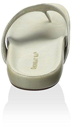Chocolat Blu Women's Omega Sandal, Grey Leather, 38 M EU/8 M US
