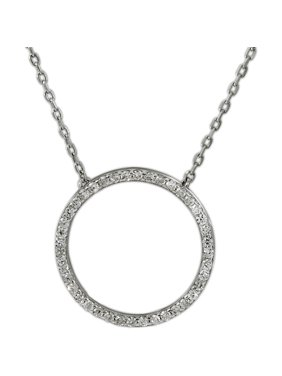 1bd76dffade Product Image Sterling Silver Cubic Zirconia Open Circle Necklace