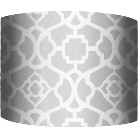 12 drum lamp shade white and silver i walmart 12 drum lamp shade white and silver i mozeypictures Gallery