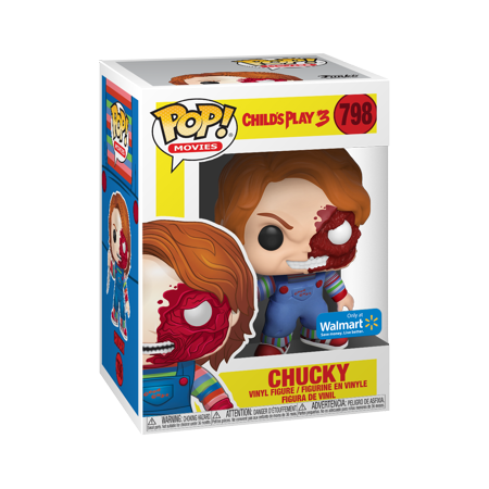 Funko POP Movies: Horror S7 - Chucky Half Face (BD) - Walmart Exclusive