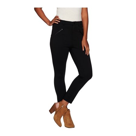Lisa Rinna Collection Ponte Knit Ankle Pants Zip A267488