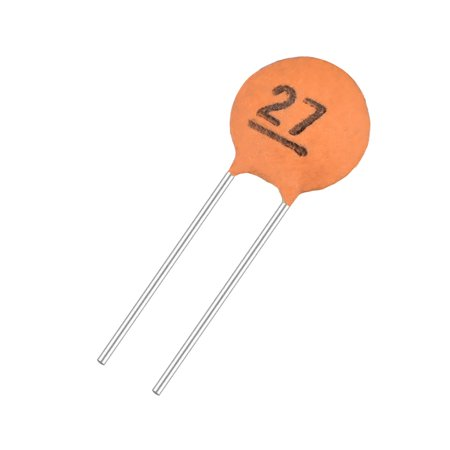 Ceramic Capacitor Kit 50V 27PF Disc Capacitors for DIY Electronic Circuit, Pack of 20, Brick Red - image 3 of 3