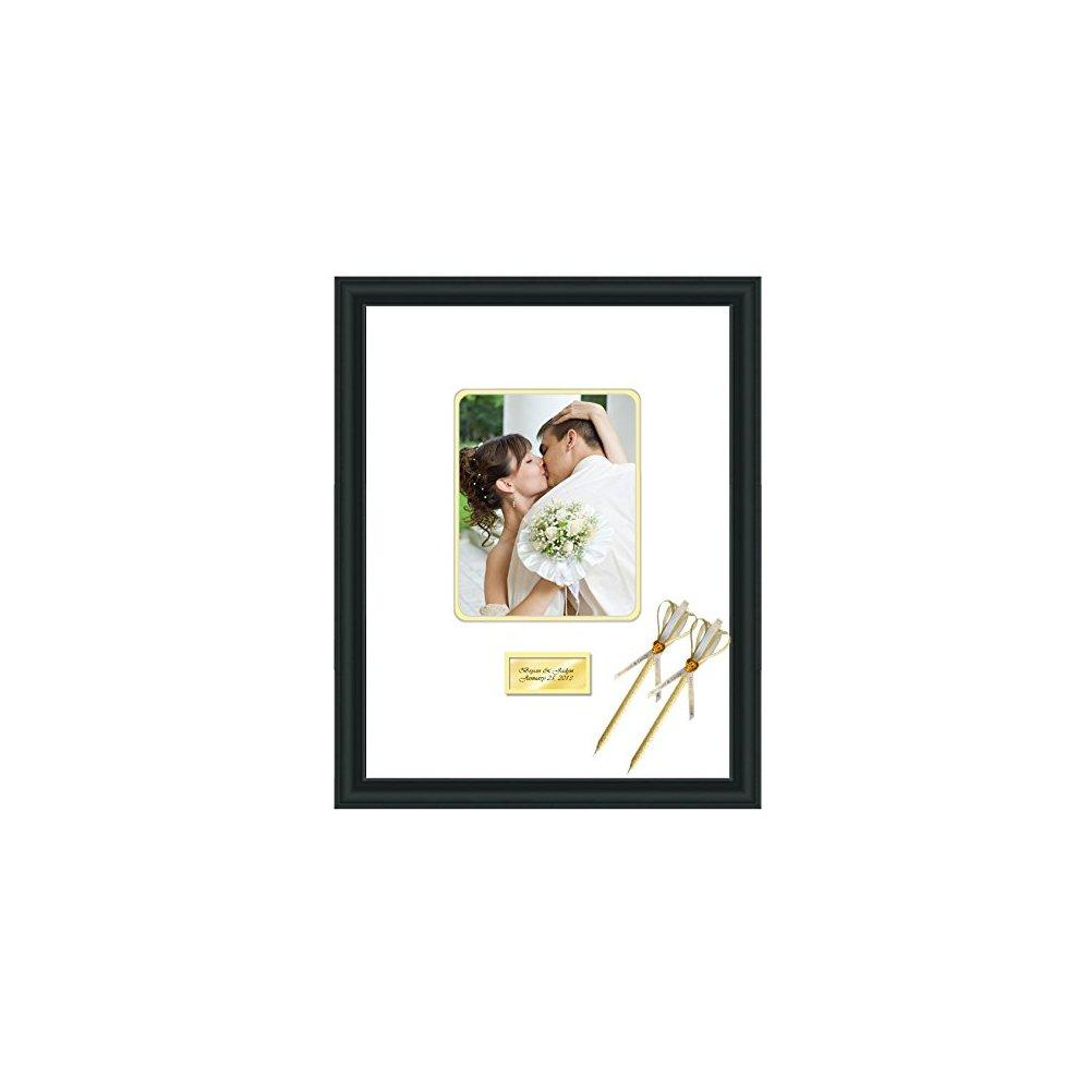 Engraved Wedding Signature Frame 16x20 Photo Matted Frames