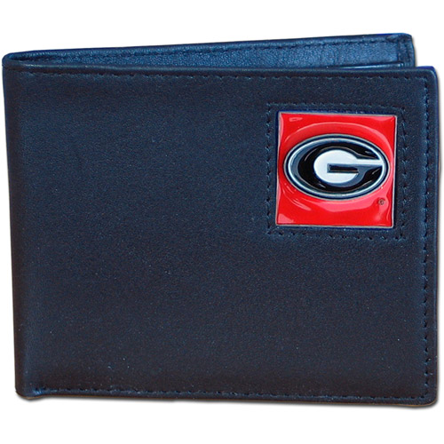 NCAA - Siskiyou - Bi-Fold Leather Wallet - University of Georgia Bulldogs
