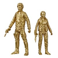 Star Wars Skywalker Saga 3.75-inch Scale Han Solo and Princess Leia Toys Star Wars: The Empire Strikes Back Figures