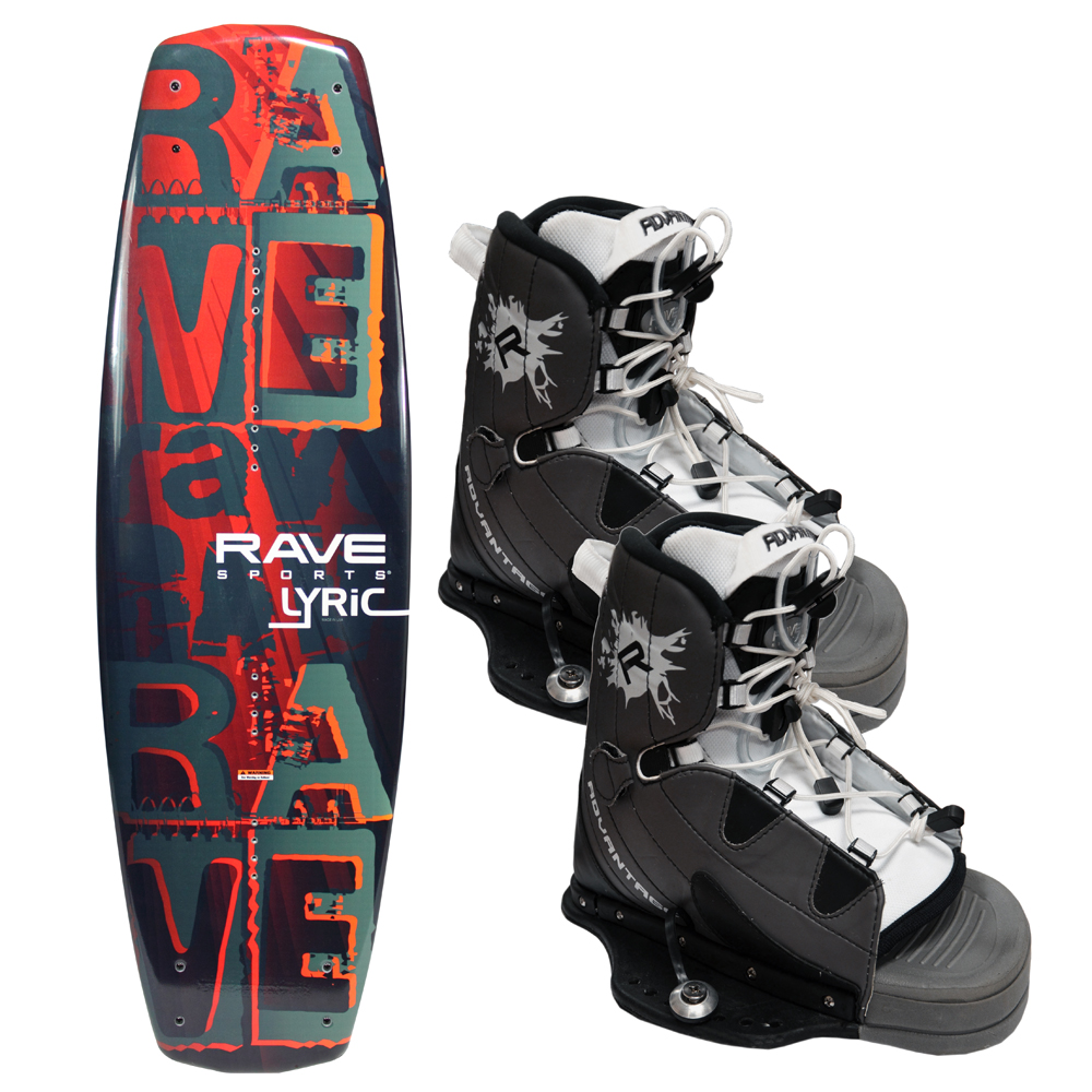 Click here to buy The Amazing Quality RAVE Lyric Wakeboard w Advantage Boots.