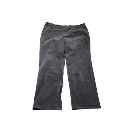 Charter Club Plus Size Shadow Grey Tummy-Control Corduroy Pants  16W