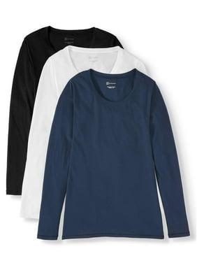 No Boundaries Juniors' Everyday Long Sleeve T-Shirt 3 Pack
