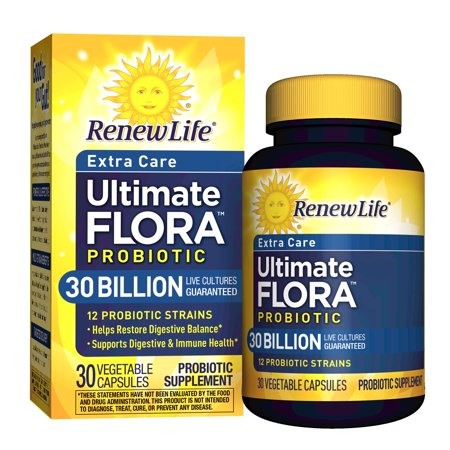 Renew Life Extra Care Probiotic, Ultimate Flora, 30 Billion, 30 Capsules - Walmart.com