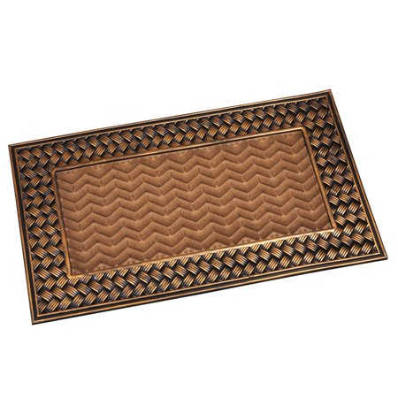 Gilded Basket Weave Door Mat for Indoor or Outdoor Use
