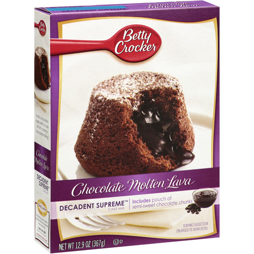 Betty Crocker Decadent Cake Molten Chocolate Lava