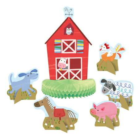 (3 pack) Unique Barnyard Farm Party Centerpiece Decorations, 18pc total - Western Themed Centerpieces