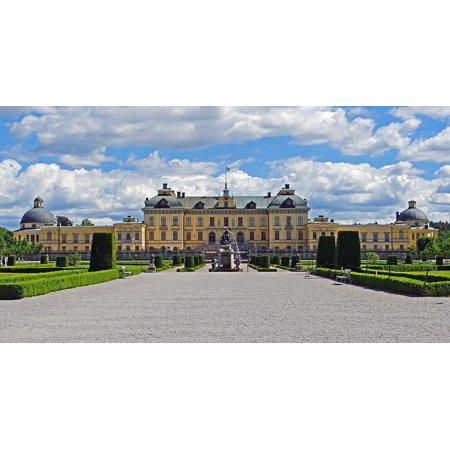 Laminated Poster Drottningholm Equipment Symmetrical Castle Park Poster Print 11 x 17 ()